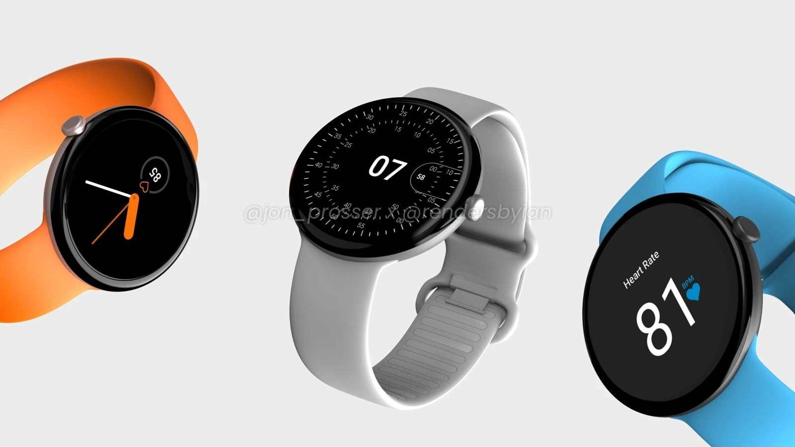 رندر های ساعت هوشمند پیکسل واچ گوگل منتشر شد: اپل واچ با طعم دایره!