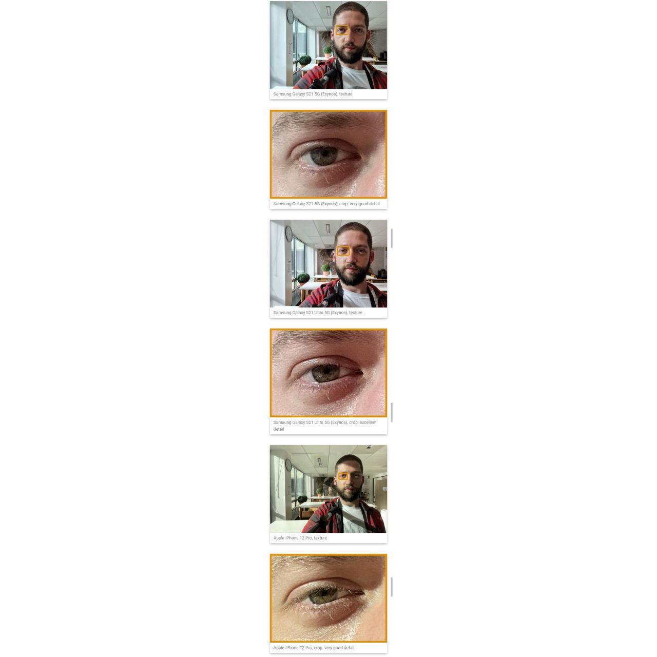 مقایسه دوربین سلفی اس ٢١