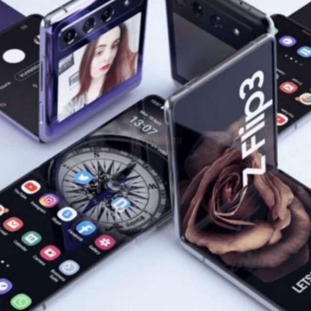 رندرهای جدید Galaxy Z Flip 3