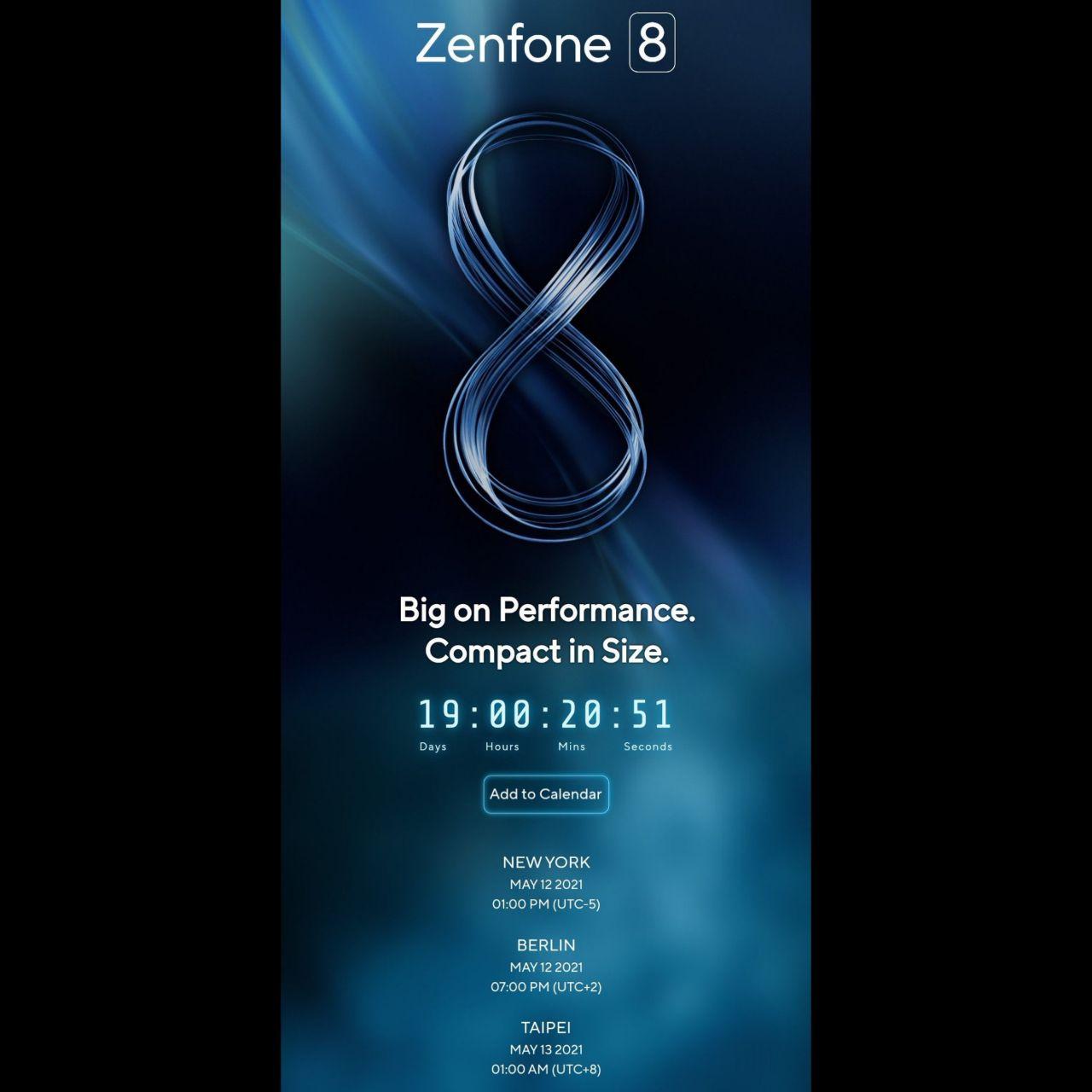 تاریخ رونمایی سری Zenfone 8
