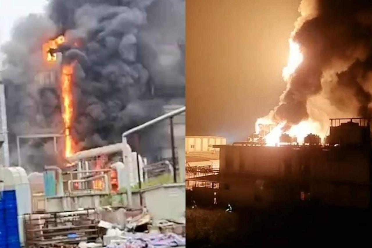 آتش سوزی کارخانه اپل