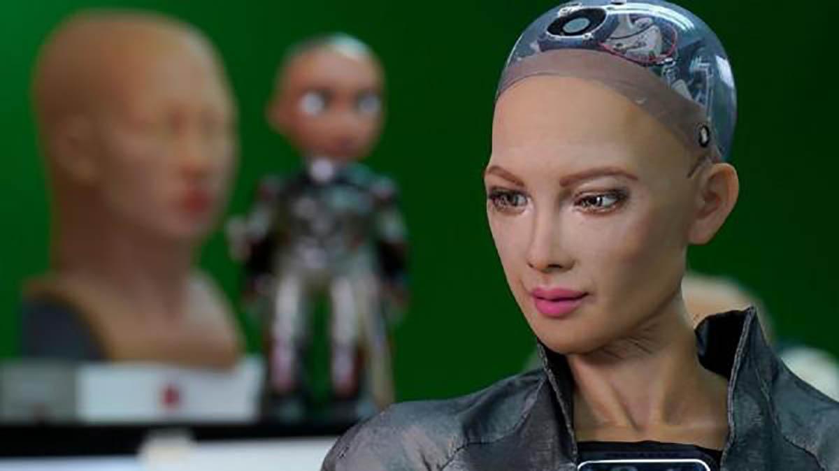 نقاشی ربات سوفیا