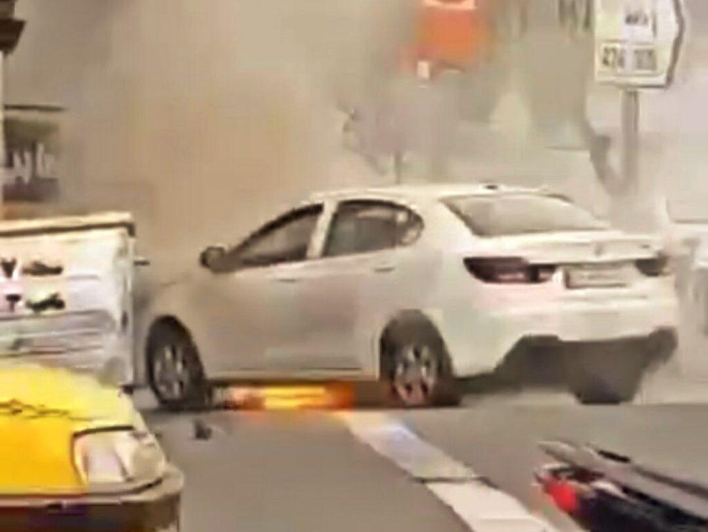 آتش گرفتن خودرو شاهین سایپا