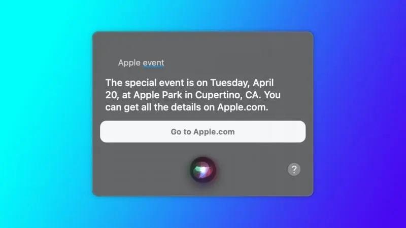 سیری به طور تصادفی تاریخ رویداد بعدی اپل را فاش کرد