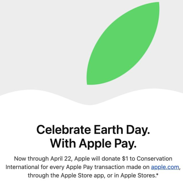 Apple Pay in Earth day