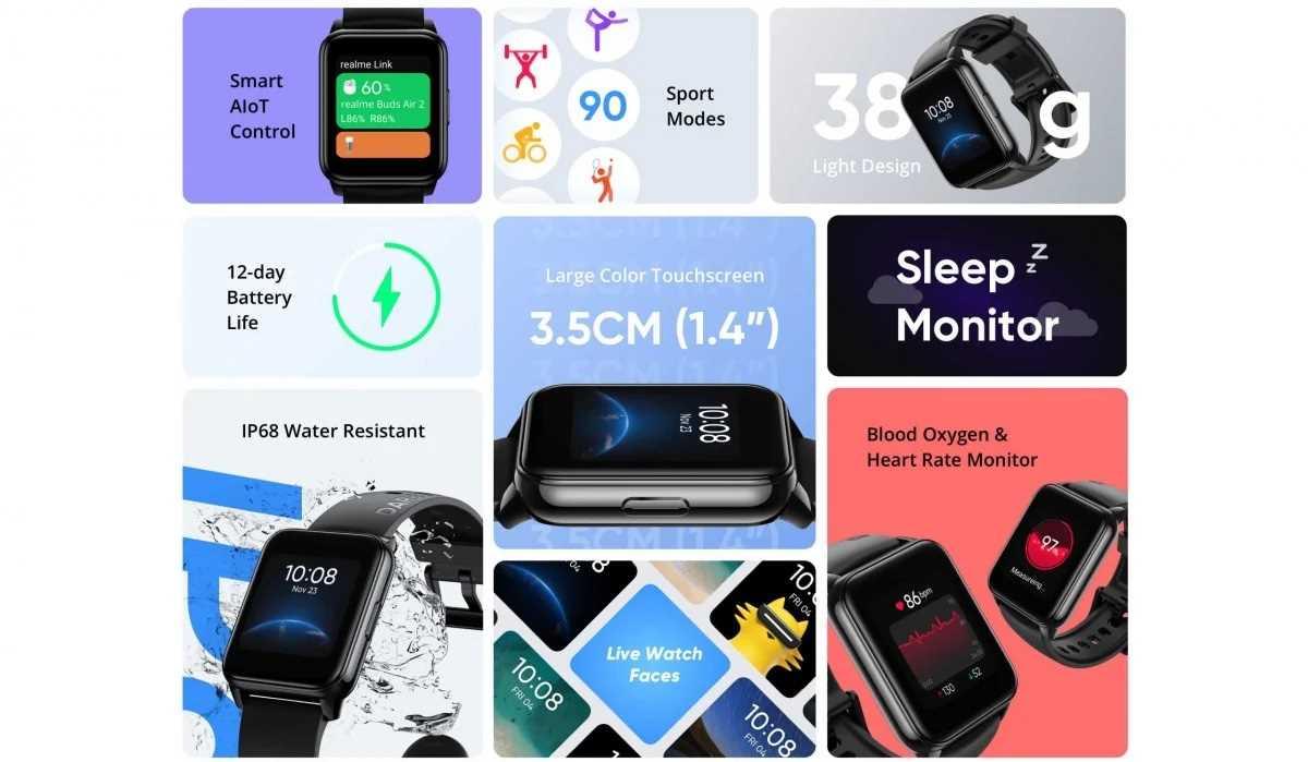 ساعت هوشمند Realme Watch 2