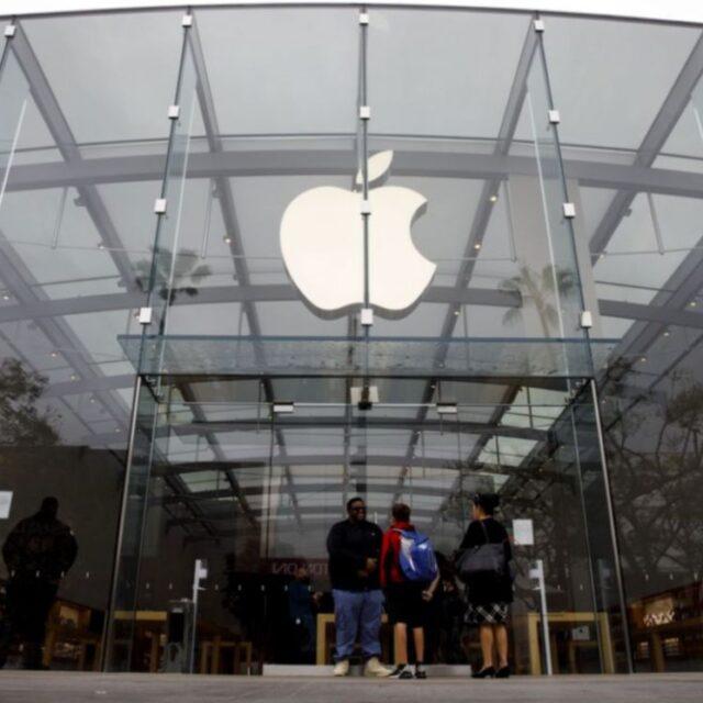 پوشیدن ماسک در فروشگاه های اپل