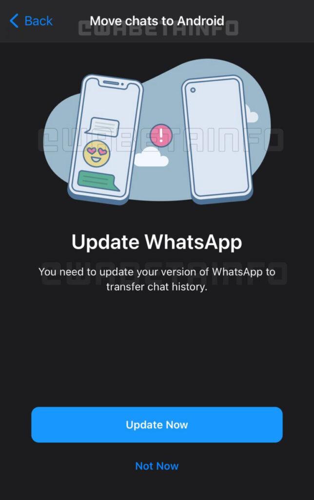 انتقال چت های واتس اپ از iOS به اندروید