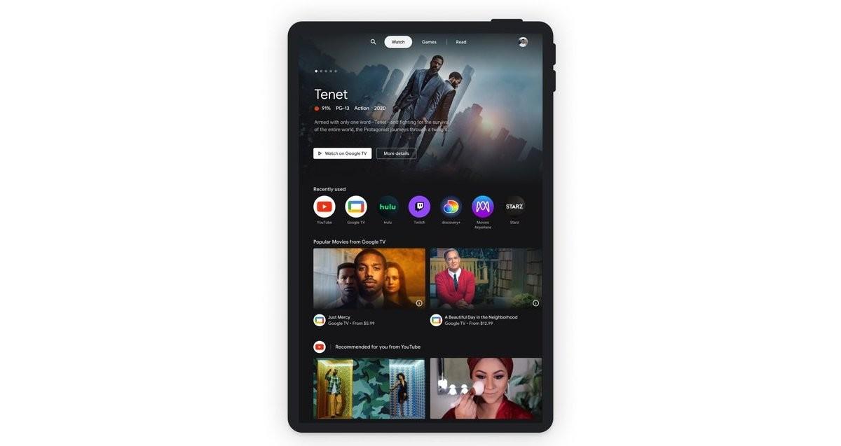 گوگل ویژگی Entertainment Space را برای تبلت های اندرویدی معرفی کرد