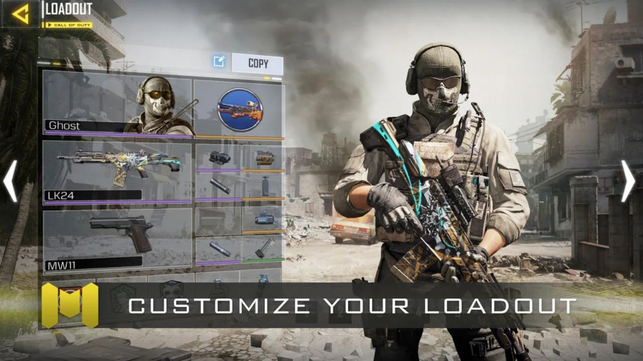 بخش Loadout در Call of Duty Mobile