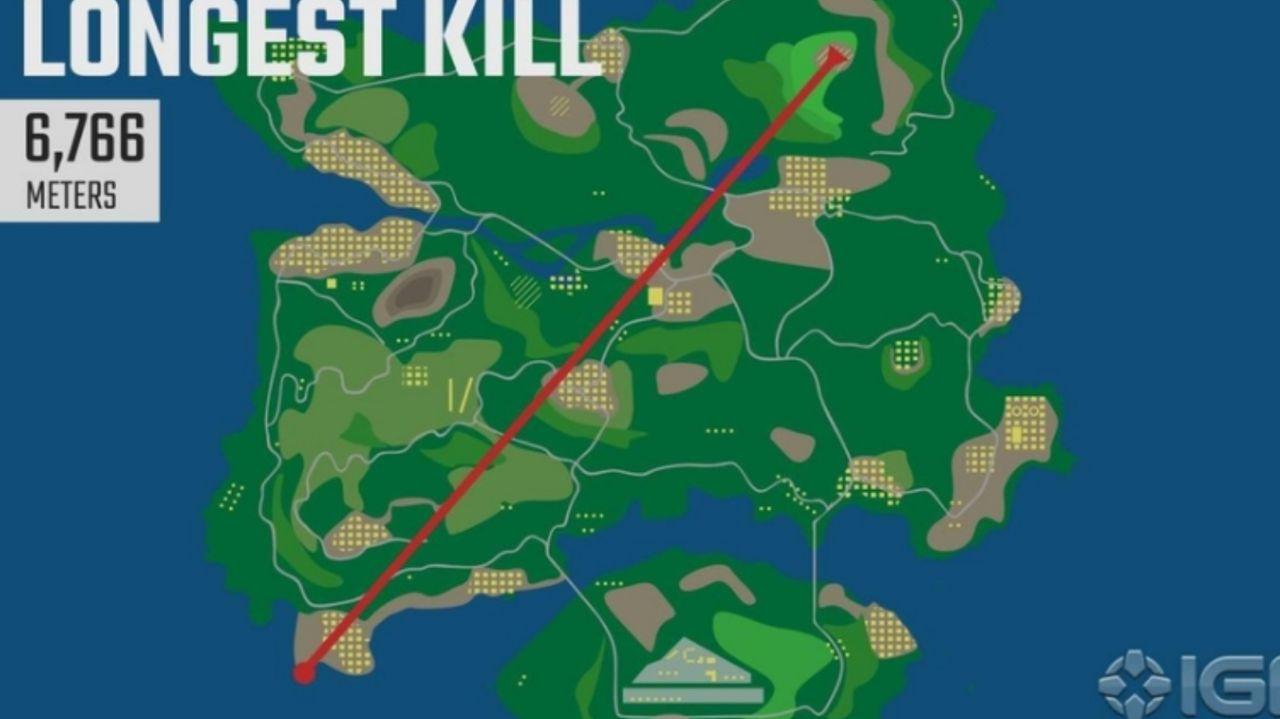 طولانیترین مسافت ثبت شده امتیاز Kill در بازی PUBG Mobile