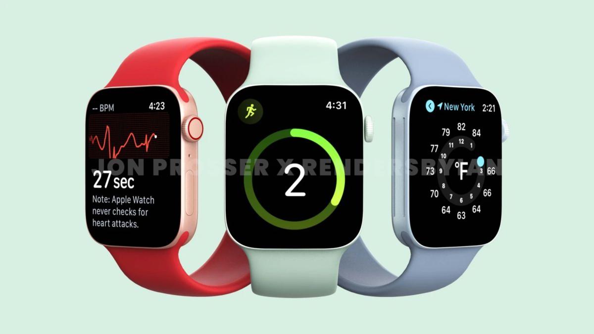 طراحی اپل واچ سری ۷ با تغییرات جدید و تنوع فراوان در رنگ بندی همراه خواهد بود