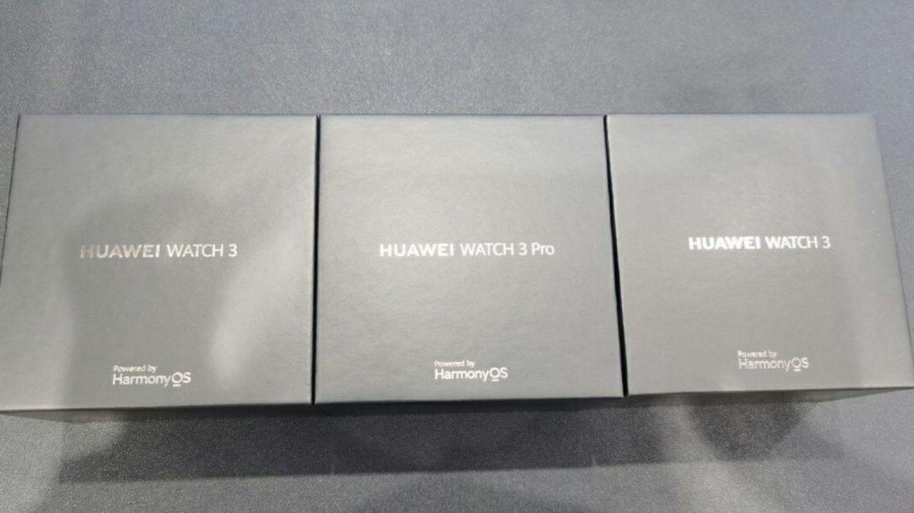 جعبه ساعت هوشمند هواوی واچ ٣ و هواوی واچ ٣ پرو