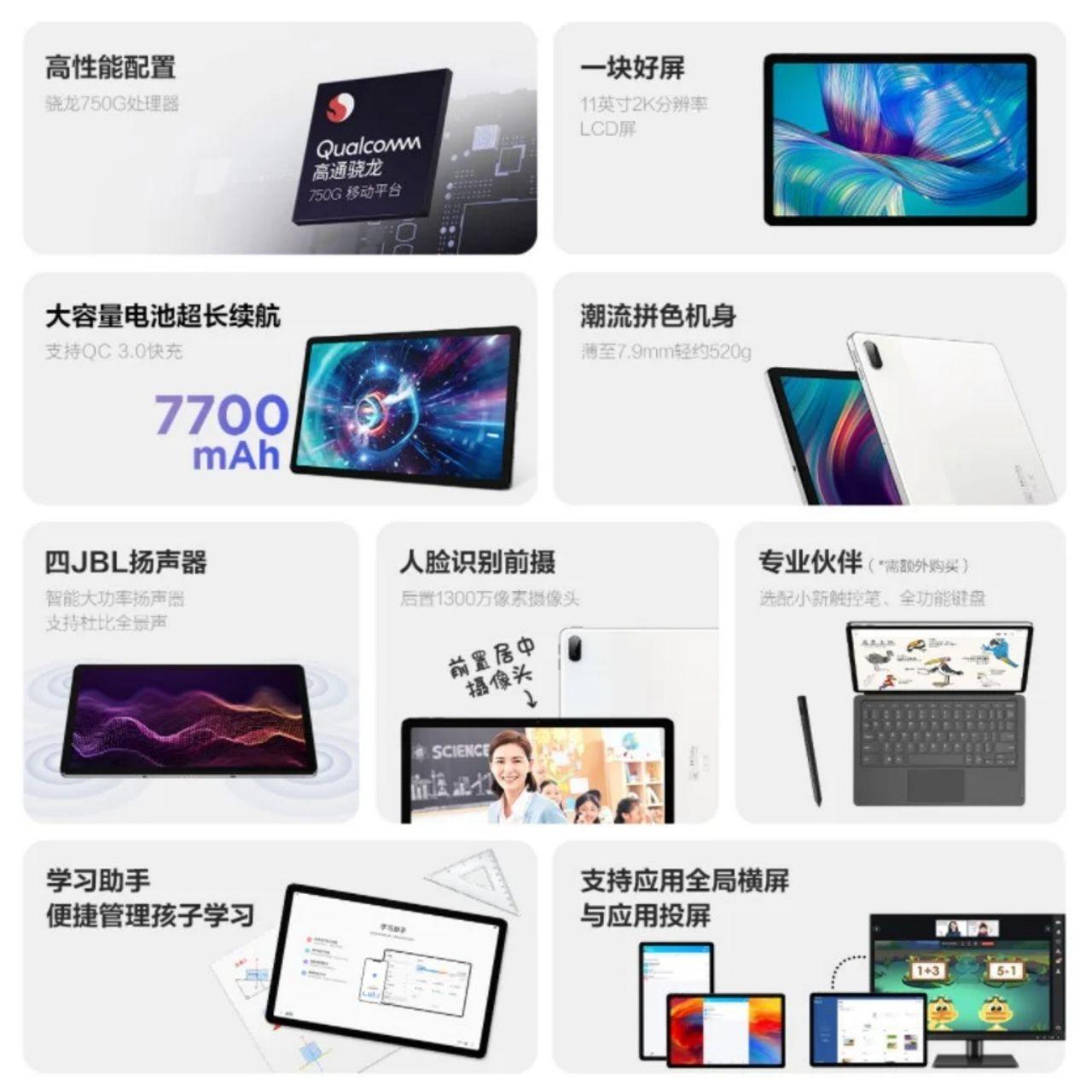 مشخصات Xiaoxin Pad Plus