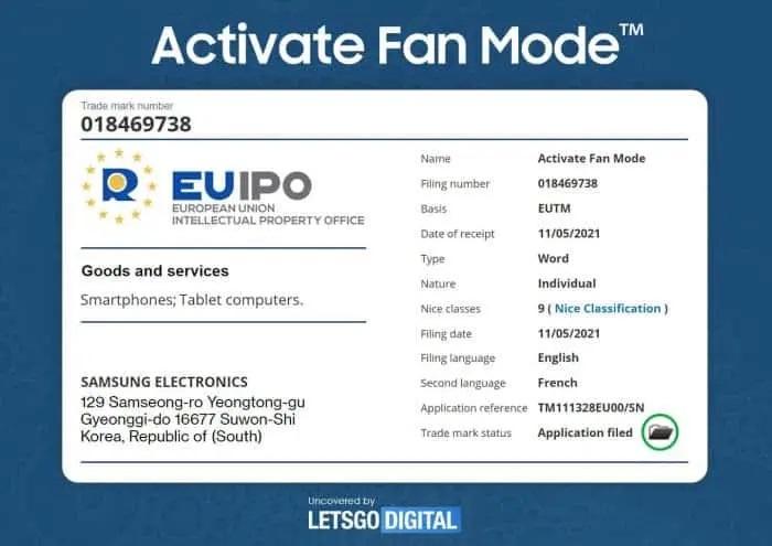 Activate Fan Mode گوشی گیمینگ سامسونگ