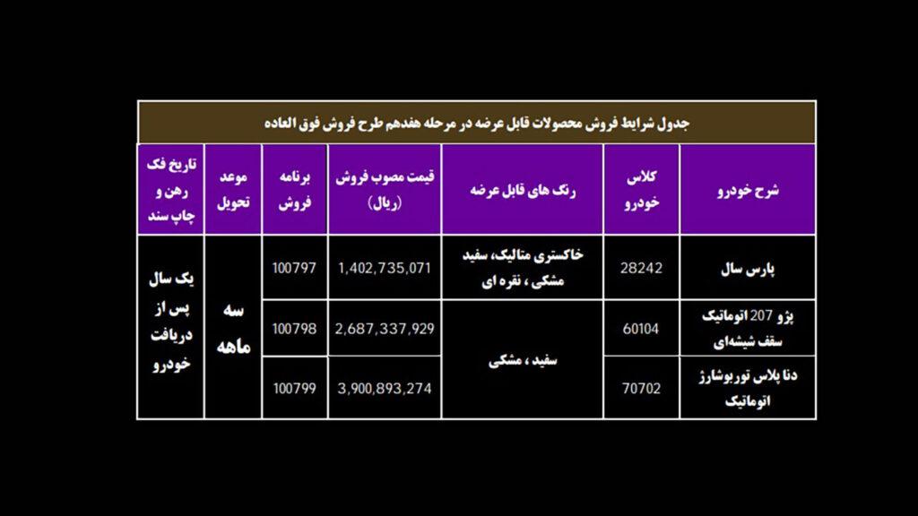 فروش فوری ایران خودرو سه شنبه ۱۸ خرداد ۱۴۰۰