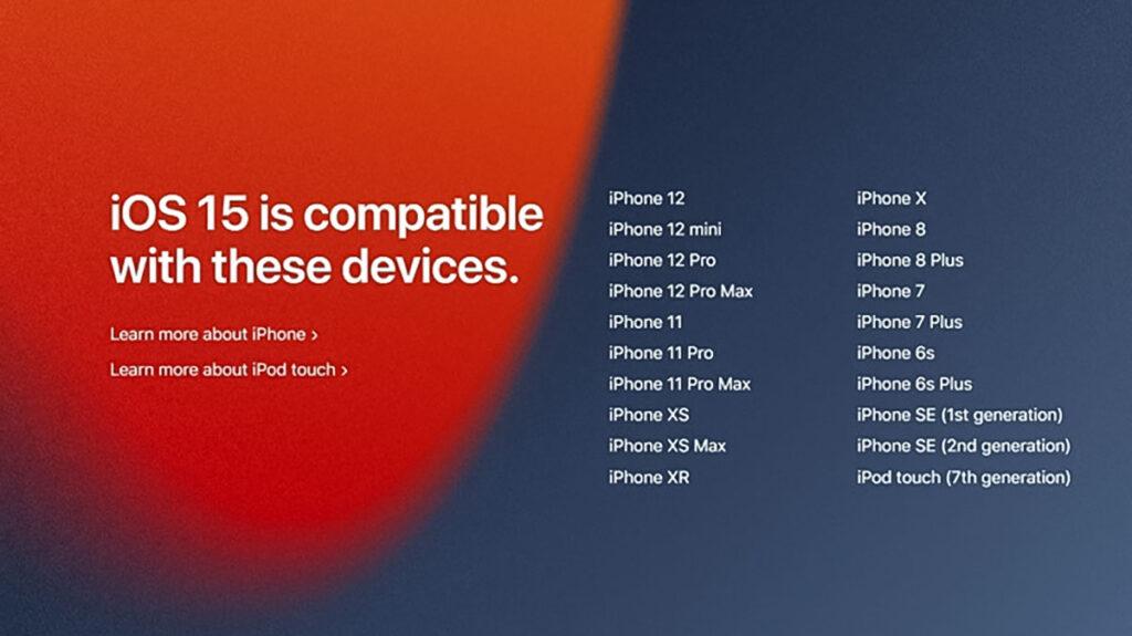 آپدیت iOS 15 برای این آیفون ها ارایه می شود
