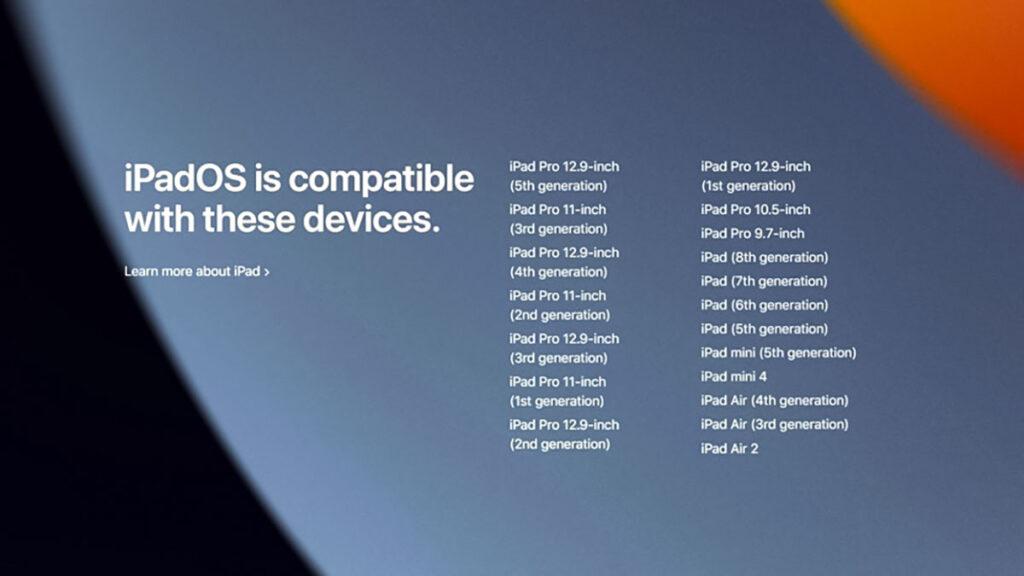 آپدیت iPadOS 15