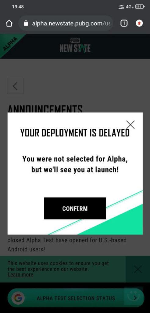 خطا Your Deployment Is Delayed