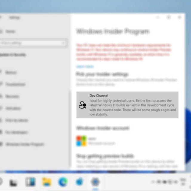 Windows 11 Dev