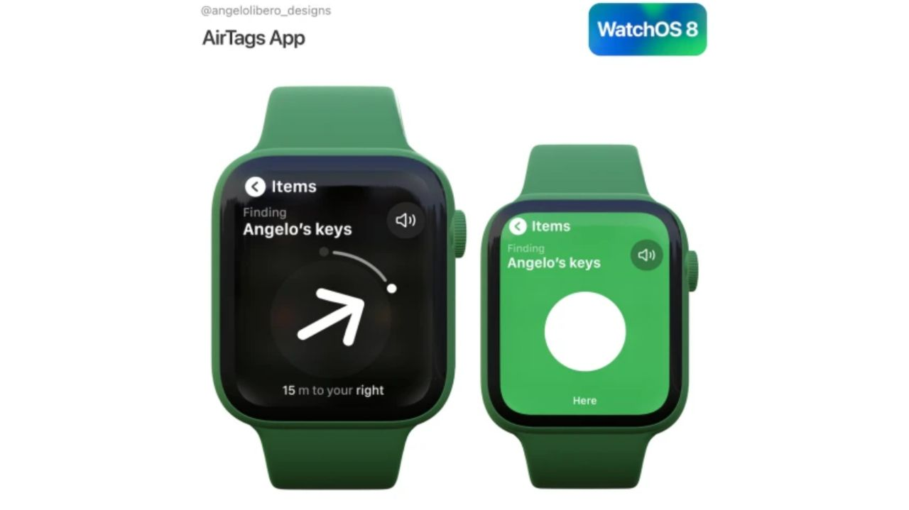 قابلیت استفاده از ایرتگ به وسیله ویجت مخصوص در WatchOS 8