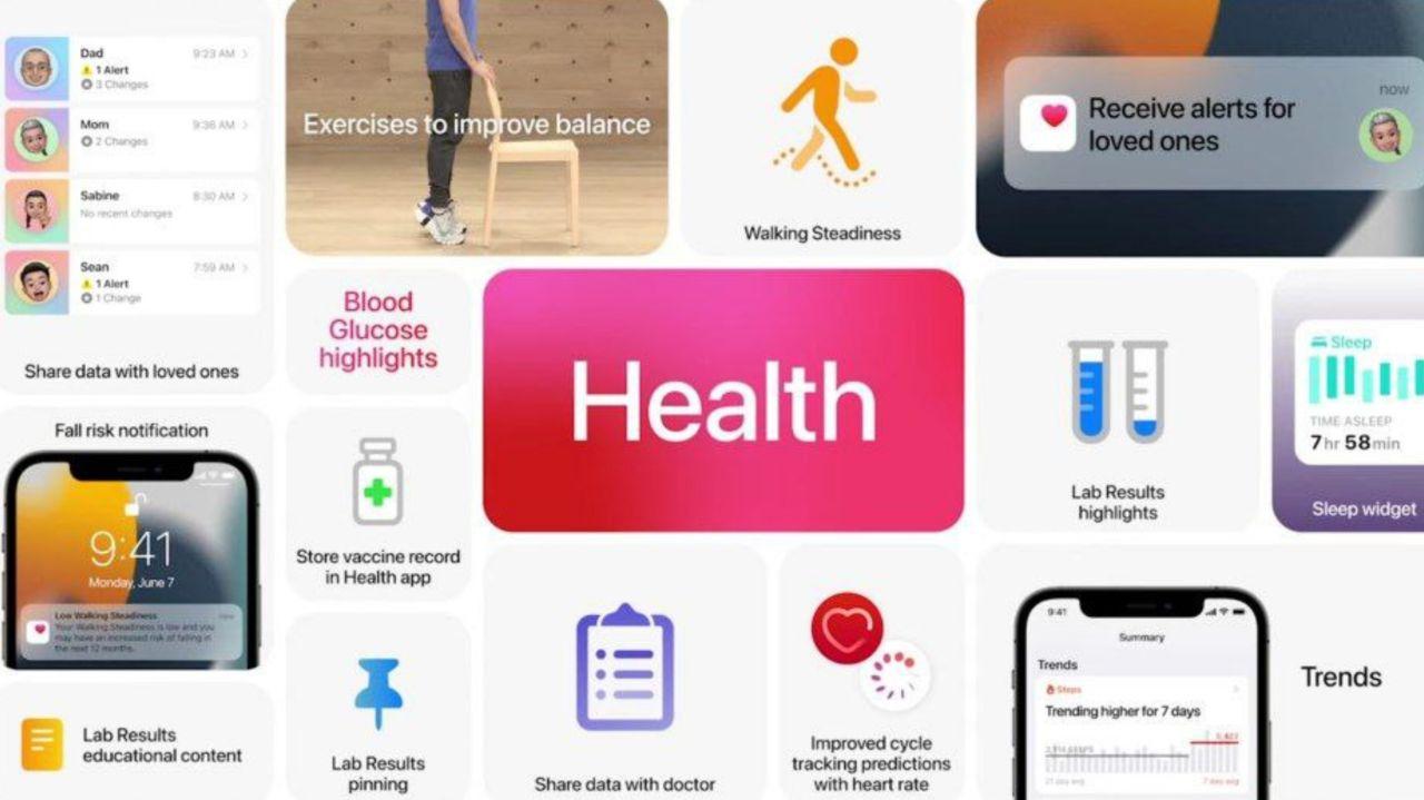 نسخه جدید اپ سلامتی اپل