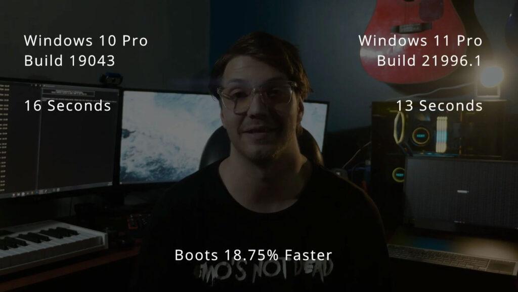 مقایسه سرعت بودن Windows 11 با Windows 10