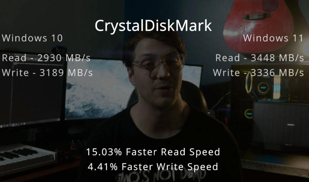 بنچمارک CrystalDiskMark ویندوز ۱۱