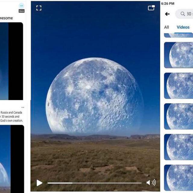ماه بزرگ قطب شمال