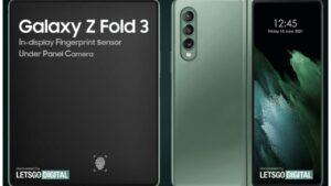 رندر گلکسی Z Fold 3