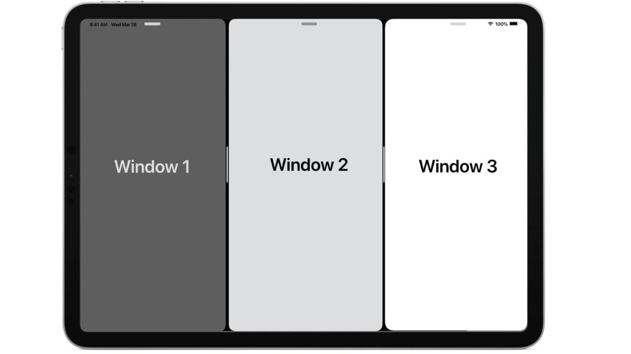 سیستم مولتی تسکینگ در سیستم عامل iPadOS 15 با قابلیت تنظیم اندازه پنجرهها