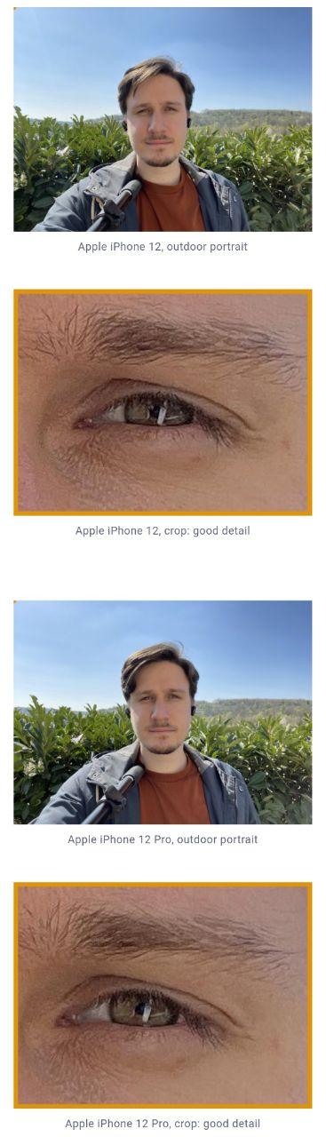 مقایسه دوربین سلفی آیفون ١٢