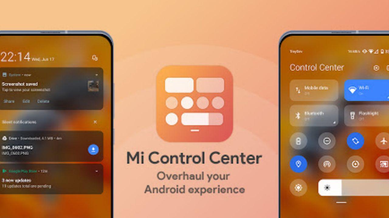 افزودن کنترل سنتر MIUI 12 شیائومی با اپلیکیشن Mi Control Center روی هر گوشی اندرویدی دیگر