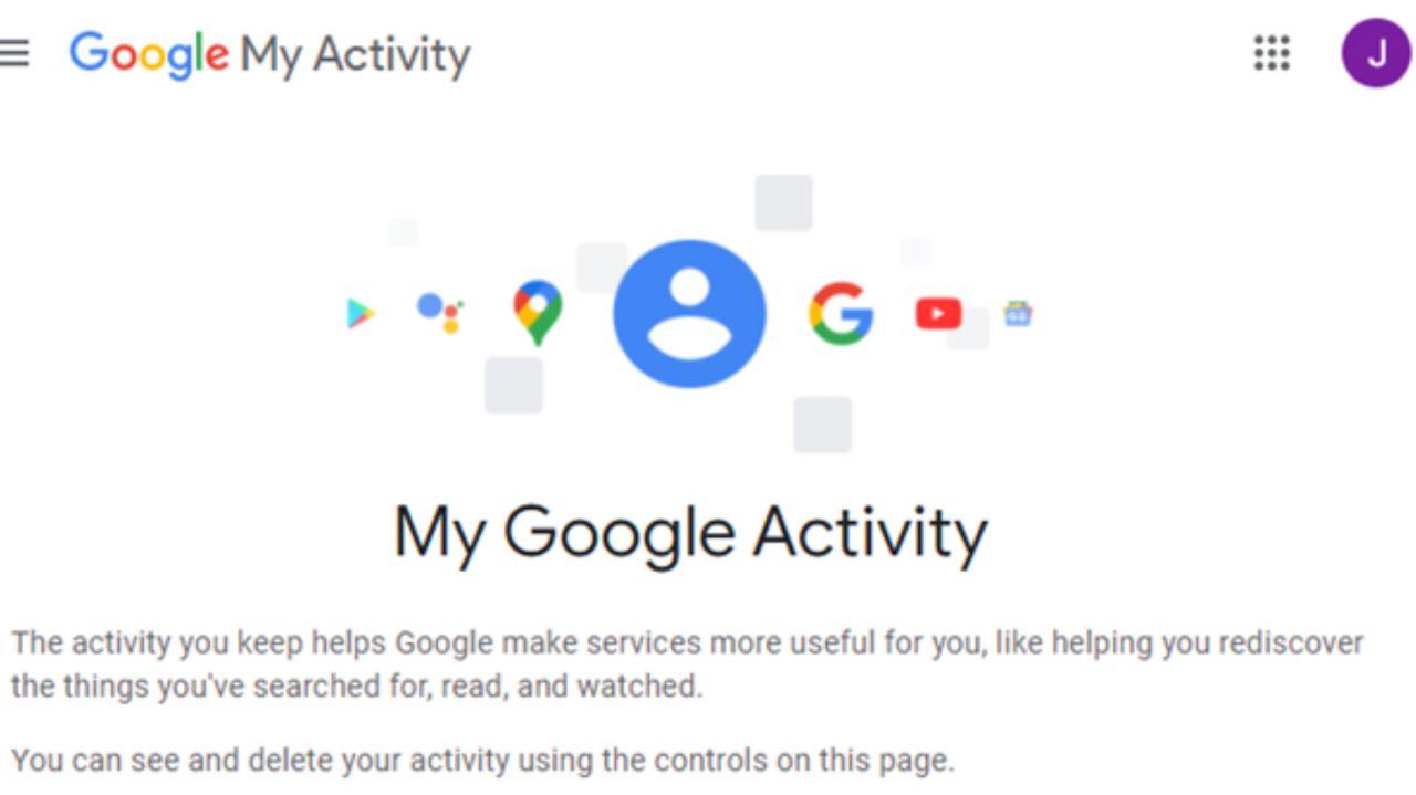 وبسایت My Google Activity