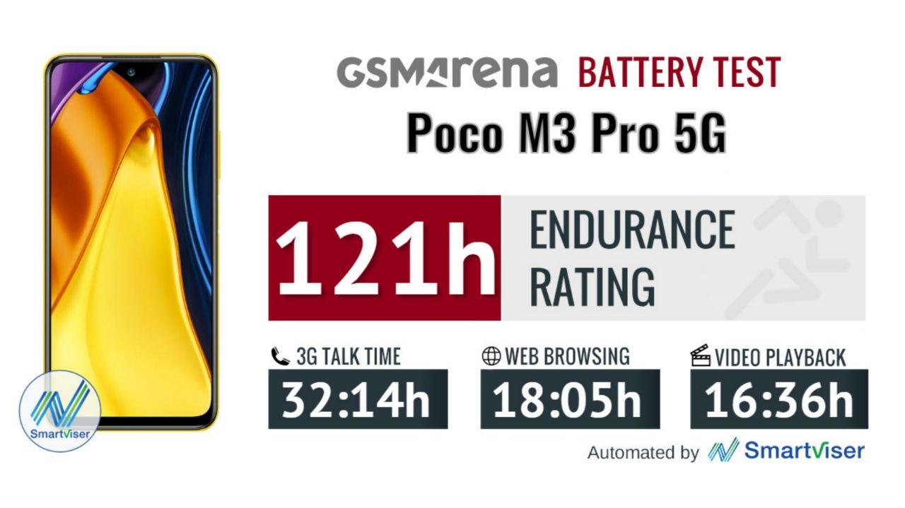 عمر باتری Poco M3 Pro 5G