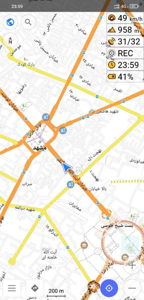 برطرف شدن اختلال GPS مشهد بعد چهارراه شهدا