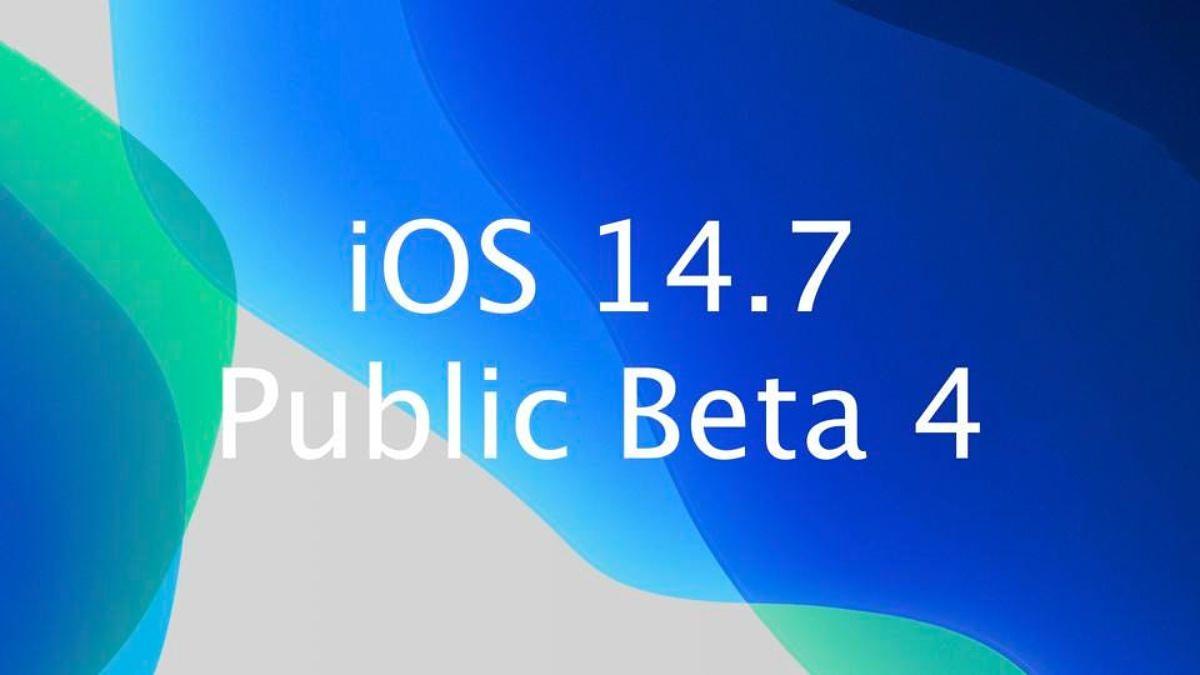نسخه چهارم بتا iOS 14.7