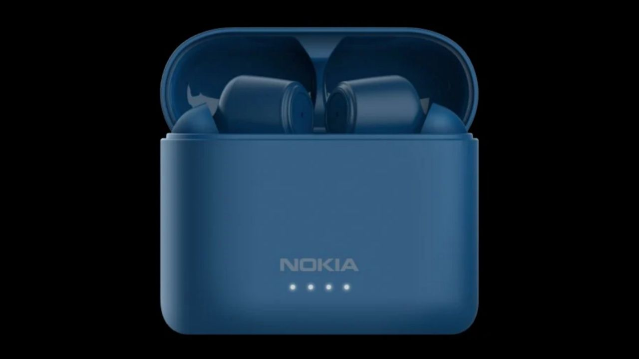 ایربادز نوکیا BH-805 در رنگ آبی
