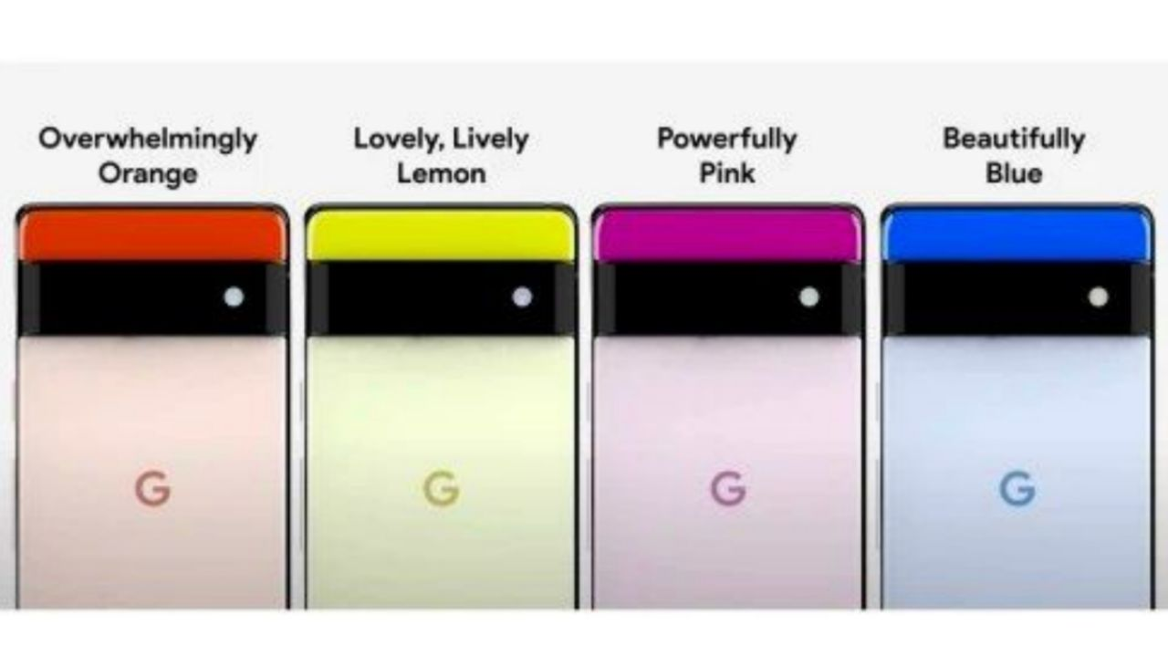 رنگ بندی احتمالی سری Pixel 6