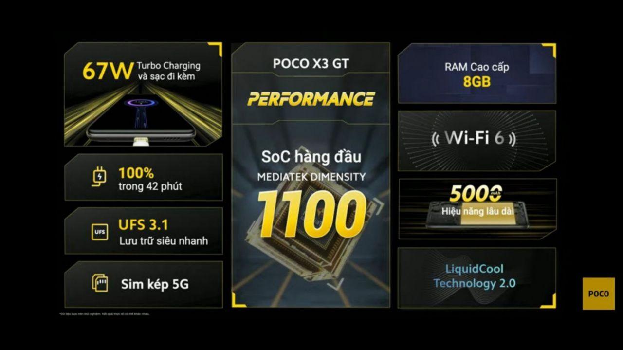 مشخصات Poco X3 GT