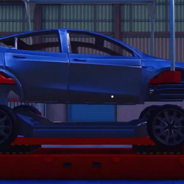 ماشین Tesla Model Y در PUBG Mobile 1.5 Ignition