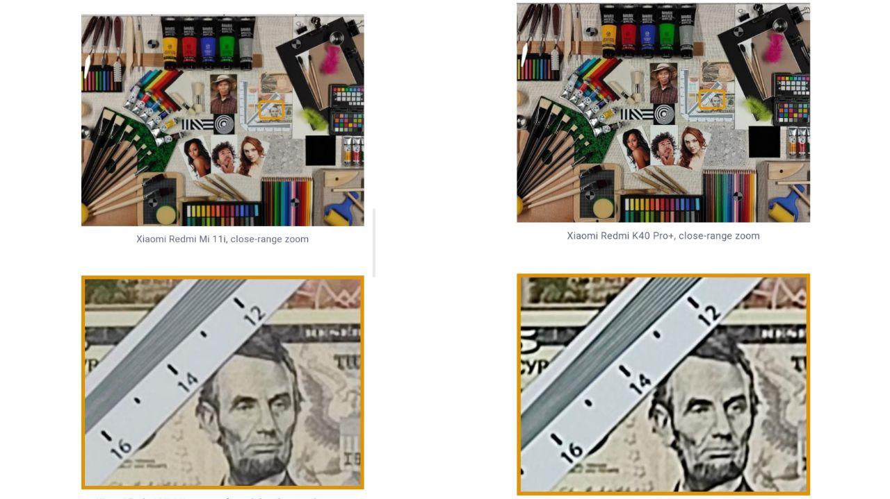 مقایسه تصاویر ثبت شده توسط شیائومی Mi 11i (چپ) و ردمی K40 Pro Plus (راست)