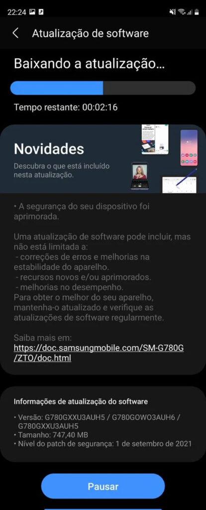 آپدیت سامسونگ Galaxy S20 FE 4G