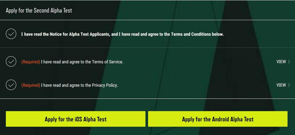 مراحل ثبت نام تست آلفا دوم بازی PUBG: New State