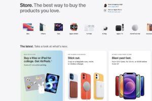 بازطراحی فروشگاه آنلاین اپل