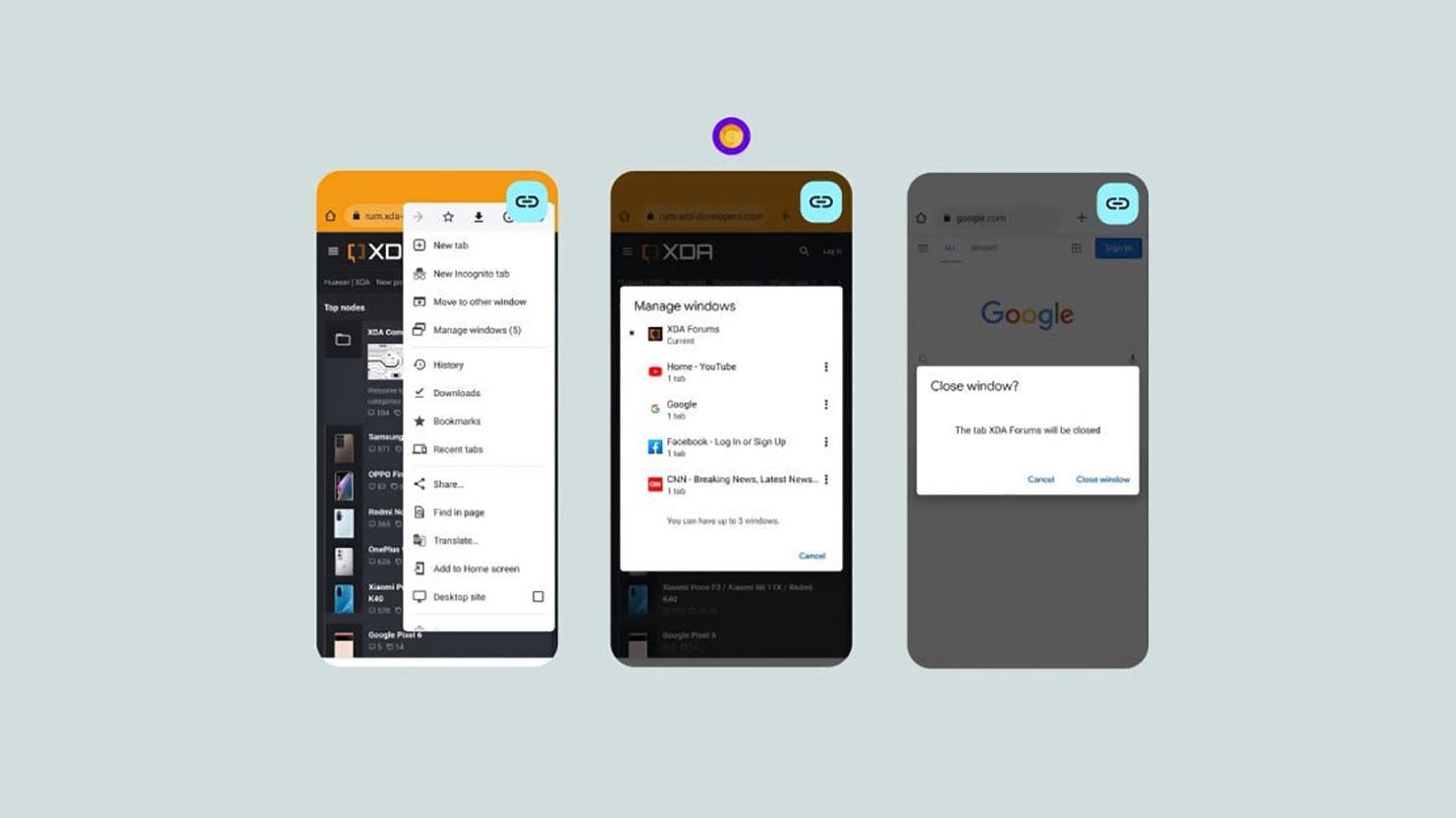 اندروید ۱۲ اجازه باز کردن چندین پنجره Chrome روی موبایل را می دهد، شبیه دسکتاپ