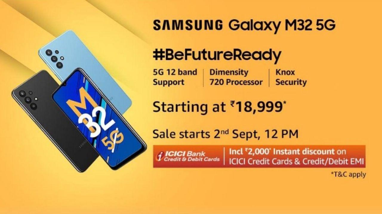 سامسونگ Galaxy M32 5G با Dimensity 720 رسماً معرفی شد