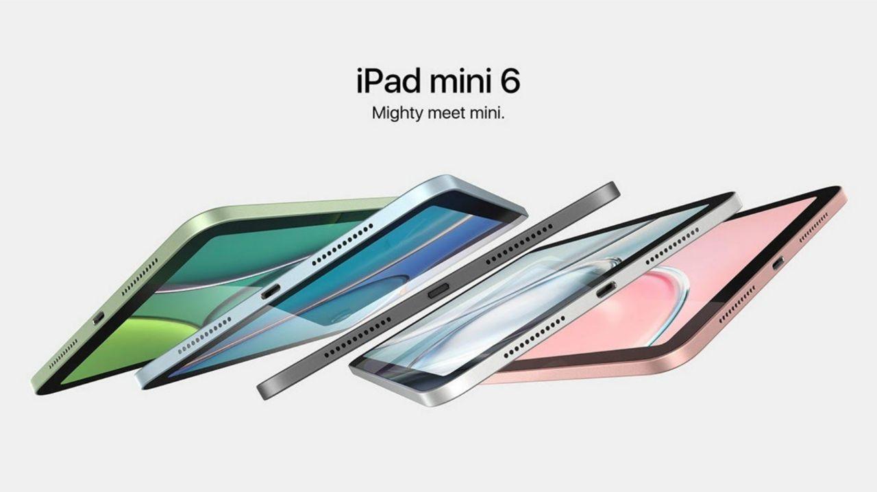 رنگ بندی iPad Mini 6 را در کنار قابلیتهای آن و در رندرهای جدید آن ببینید!