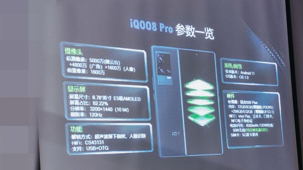 مشخصات iQOO 8 Pro