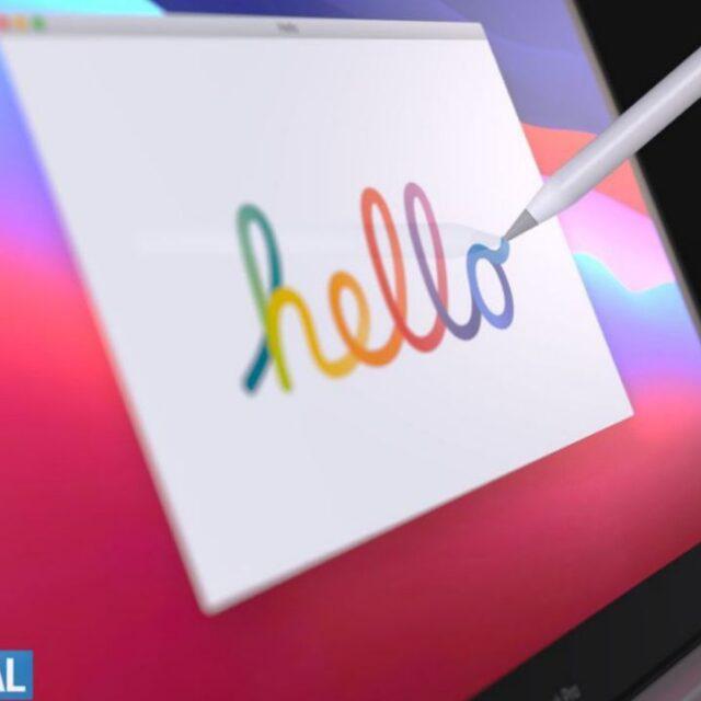 کانسپت MacBook Pro با Apple Pencil